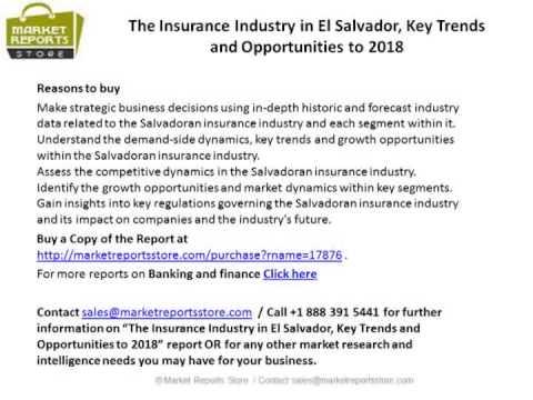 El Salvador Insurance Market Emerging Opportunities & Analysis 2018