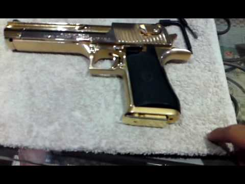 24k gold Desert Eagle THE REAL DEAL 권총