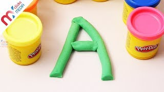 Learn English Alphabets A To Z Play And Learn Alphabets Play-doh-clay ABCD for Kids