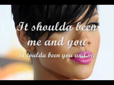 Photographs by Rihanna and Will.I.Am w/ lyrics on screen Video