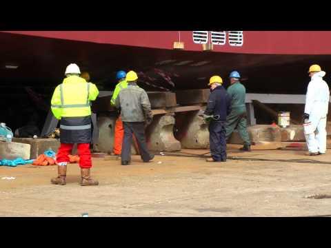 LAUNCH of ferry Lochinvar at Ferguson Shipbuilders, Port Glasgow