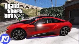 GTA 5 - Đi phượt vòng quanh thành phố bằng siêu xe BMW I8 ngày tết và gặp anh Bigfoot | ND Gaming