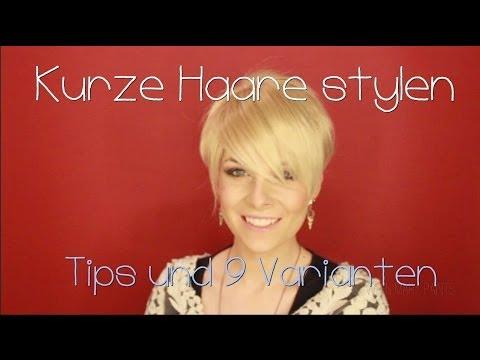 Kurzes Haar Stylen Kurze Haare Stylen • Miley