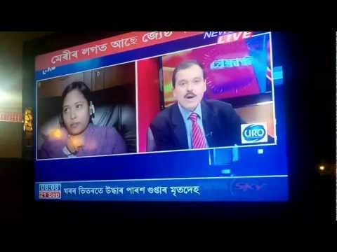 Roschell on NEWS LIVE (Indian TV) - 21-09-2011