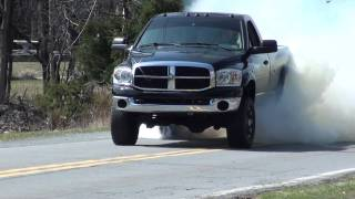 Dodge Ram Cummins Massive BURNOUT!