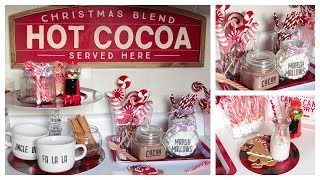 DOLLAR TREE HOT COCOA BAR DIY AND SETUP