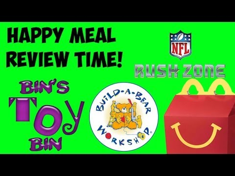 Build-a-Bear Workshop & NFL Rush Zone (2013) Happy Meal Review Time! by Bin's Toy Bin