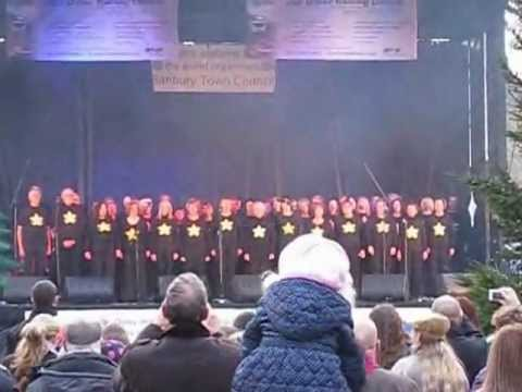 Banbury Rock Choir At Banbury Christmas Lights Sunday 25 November 2012 - How Deep Is Your Love video