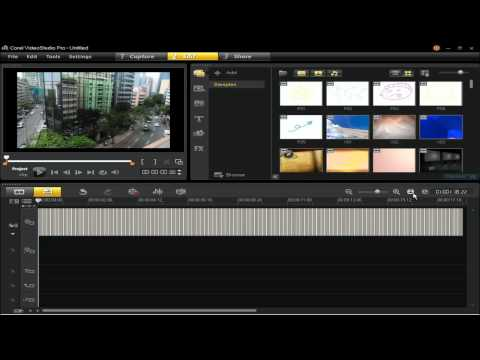 Creating A Time-lapse Effect in Corel VideoStudio Pro X5