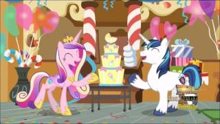 Shining Armor and Princess Cadance revealing their secret