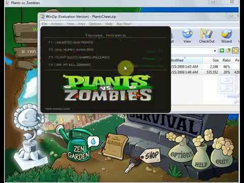 Plants Vs Zombies-Download Working Trainer 4+ (FOR REAL!!!)