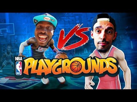 NBA PLAYGROUNDS GAMEPLAY VS QJB! SHAWN KEMP IS A CHEAT CODE! (NBA Playgrounds Multiplayer Gameplay)