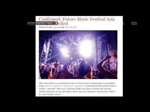 Future Music Festival Asia terpaksa dihentikan di hari ketiga