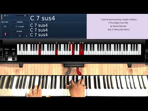 If You Really Love Me (by Stevie Wonder) - Piano Tutorial