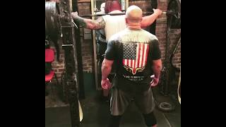 580lb Chained Squat for reps EPIC FAIL