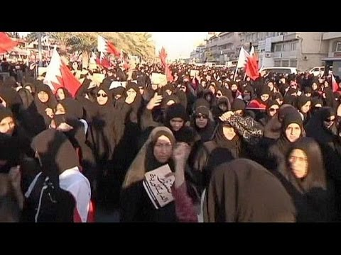 Bahrain police disperse women's protest with stun grenades