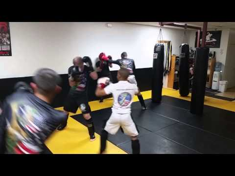 Adult Kick Boxing sparring
