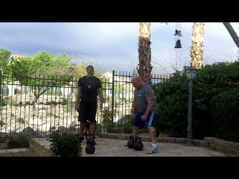 Kettlebell clean and press workout with Vic Mackey and Mike Mahler Image 1