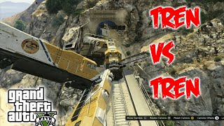 Accidentes de Trenes | Tren vs Tren | Reto en GTA 5 #8