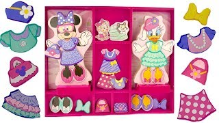 Best Learning Colors for Children Minnie Mouse Daisy Duck Dress Up Match Clothes | Fizzy Fun Toys
