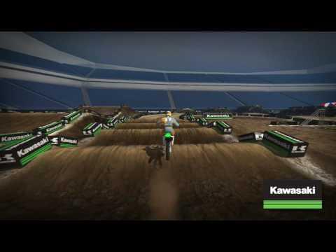2017 Monster Energy Supercross Kawasaki Track Map: Detroit