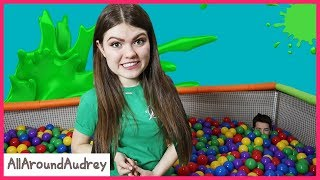 Ball Pit - Guessing The Mystery SLiME Ingredients Challenge! (Read The Clues) / AllAroundAudrey