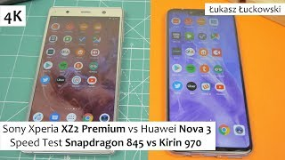 Sony Xperia XZ2 Premium vs Huawei Nova 3 ❗❗❗ | Speed Test | Snapdragon 845 vs Kirin 970