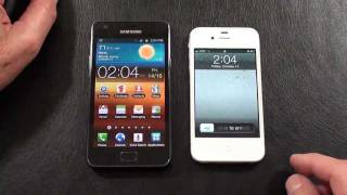 Samsung Galaxy S II vs Apple iPhone 4S Part 2 AT&T Face Off_