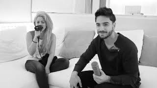 "Shakira & Maluma singing ""Trap"" in the studio"