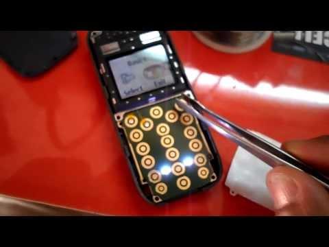 nokia 1208 arreglo de teclas por medio de jumper , repair 1208 jumper keypad par