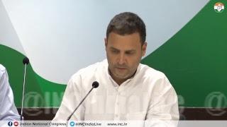 LIVE: Congress President Rahul Gandhi addresses media at Congress HQ on Rafale Deal Scam