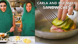 Miz Cracker and Carla Make Friendly Sandwiches | From the Test Kitchen | Bon Appétit