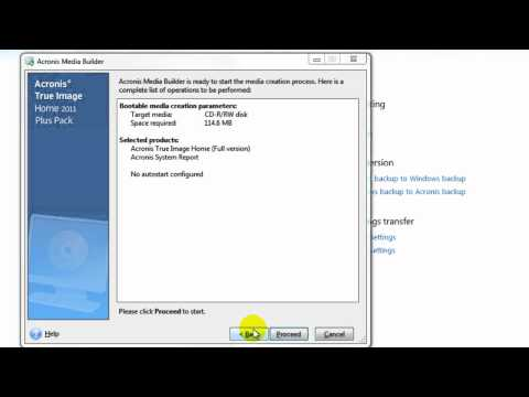 How To Create Acronis Bootable CD for Backups and Restores.