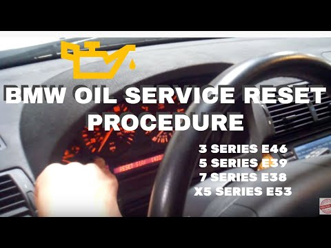 Reseting Oil Service For Bmw X5 Series E53 or E46 3 Series or 5 Series E39 or 7 Series E38