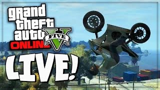 GTA 5 Online Xbox 360 LIVESTREAM - GTA Online Stunts, Funny Deaths & Crashes (GTA V Online Gameplay)