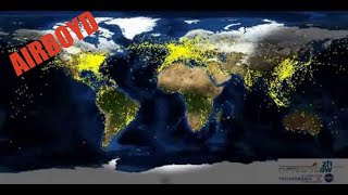 A Day in the Life of Air Traffic Over the World