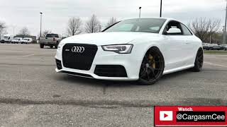 Straight Piped Audi RS5 Reaction Video! Loud Tuned RS5 by TAG Motorsports!
