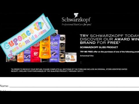 Super **REBATE** por comprar un Schwarzkopf Gliss Shampoo, Conditioner or Treatment