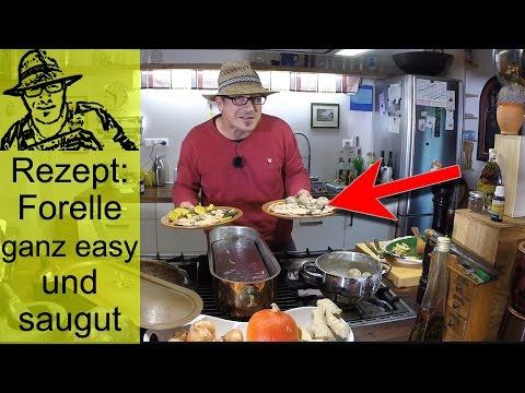 Forelle zubereiten - ganz leicht und saulecker - mit Schrumpelkartoffeln