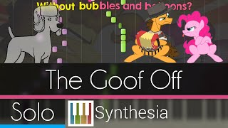 The Goof Off - |ANIMATED SOLO PIANO TUTORIAL w/LYRICS| -- Synthesia HD