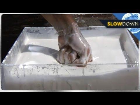 Non-Newtonian Liquid IN SLOW MOTION!