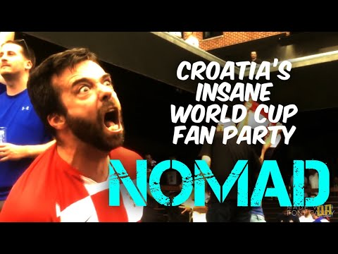 Croatia's Insane World Cup Celebration, Victory Party, Beer Garden, Beats England thumbnail