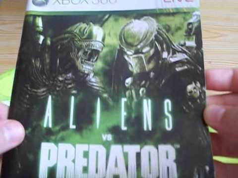 unboxing of Aliens vs Predator for the Xbox 360