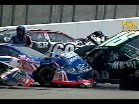 2002 Aaron's 312 Crash at Talladega LIVE Video