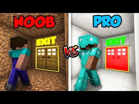 Minecraft NOOB vs. PRO: BASE ESCAPE in Minecraft!