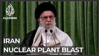 Iranian officials urged to unite after nuclear plant blast
