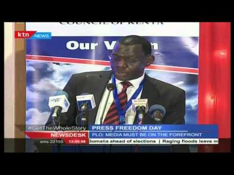 Kenyan journalist celebrate world press freedom day