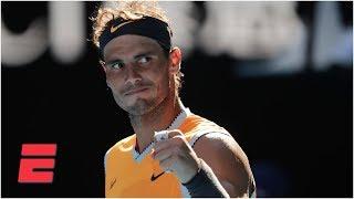 Rafael Nadal defeats Tomas Berdych to advance to quarterfinals | 2019 Australian Open Highlights