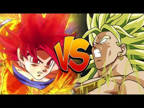 SSJ God Goku Vs Legendary Super Saiyan Broly - Dragon Ball Z...