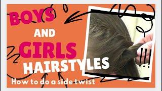 How to PonyHairstyles: Twist Side Wrap PonyStyles
